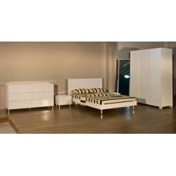 China High Glossy Home Furniture,White Bedroom Set,Wood Bed and Wardrobe,Nightstand,Dresser, Mirror Stand,Amorie,Chest on sale