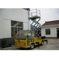 Yellow / Blue Vehicle Mounted Work Platforms 9 meter Height With 306 kg Load