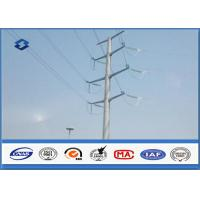 Electric Angle Power Steel Pole with 110KV Double Circuits Hot Dip Galvanized