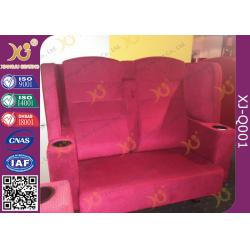 China Wooden Frame Fabric Cover VIP Cinema Seating With Armrest / Home Cinema Sofa Seating on sale