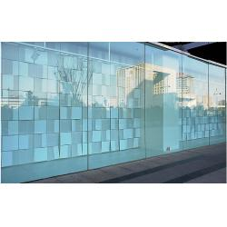 Office glass wall partition s office glass wall partition for Decorative tempered glass panels