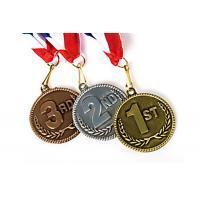 Blank Zinc Alloy Marathon Running Sports Gold Medals Custom Metal Award Medals