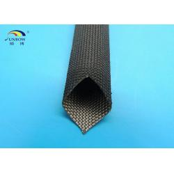 China 400 ℃ Flexible Black or White High Temperature Fiberglass Sleeving for Cables on sale
