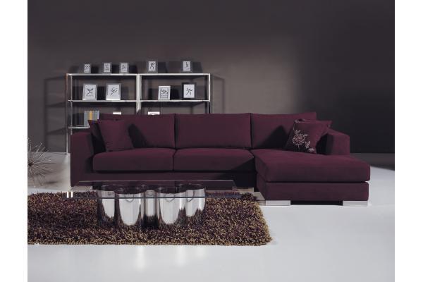 sof moderno de la tela de seater de la prpura de lujo muebles italianos del sof de la sala de estar