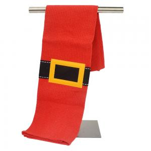 Lint Free Ultra Soft Durable OEM Red Yarn Dyed Woven Kitchen Tea Towels / Cloths
