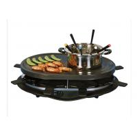 Home non-stick Black Electric BBQ Grill XJ-3K076PO with fondue set