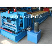 Trapezoid Roof Tile Roll Forming Machine YX1100 Russian Type PPGI Material
