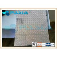 Treadplate Surface Aluminum Honeycomb Panels Aerospace Industry Use Edge Exposed