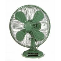 Green Industrial 10 Inch Retro Table Fan 3 Speed Rotary Switch Air Cooling