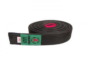 China 249CM Length Martial Arts Black Hemp Bjj Belt With 100% Cotton Silk Inside supplier