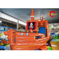 China Corsair HD Inkjet Map Slide PVC Inflatable Bounce House Commercial Jumping Castles on sale