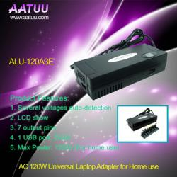 China 7 Output Pins Adapter, 120W Universal Laptop AC Adaptor for Home use ALU-120A3E on sale