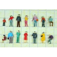 P100-11B 1:100 HO Architectural Scale Model People Painted Figures 1.8cm