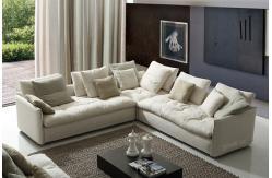Sof s modernos c modos blancos de la tela tapizados a casa for Sofas modernos y comodos