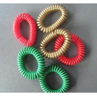 Custom special design golden color plastic spring string wrist coil chain for promotion
