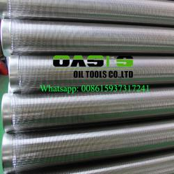 China 316L stainless steel water well screen Johnson screens  for water well drilling on sale