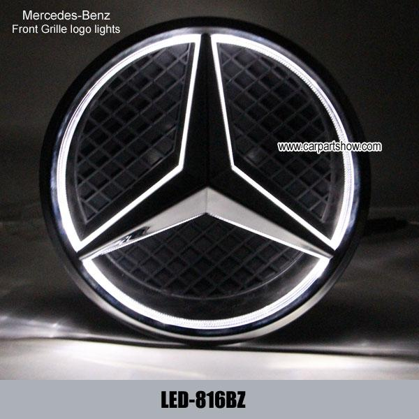 Mercedes benz front grille logo led light badge light auto for Mercedes benz front emblem