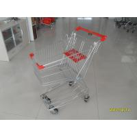 Normal Grocery Store 60L Wire Shopping Trolley with 4 swivel 4 inch PU wheels