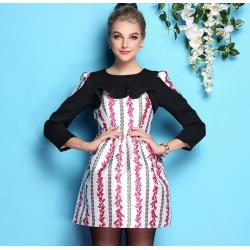 China wholesale brand women dress women apparel fashion women clothing wholesale brand fashion BL862-pink-c on sale