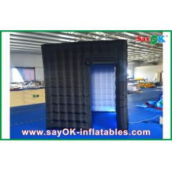 China 2.4m Black Inflatable Photo Booth , LED Light Inflatable Picture Booth on sale