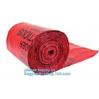 Heavy Duty Dustbin liner Plastic biohazard infectious waste, Biohazard Garbage Bag for Medication, biohazard on roll cus