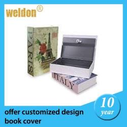 China Fashional Home Dictionary Diversion Metal Book Safe with Key Lock on sale