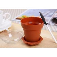 Home Party DIY Cake Baking PP Plastic Flower Pot Shaped Jelly Cake Yogurt Cup 100ml
