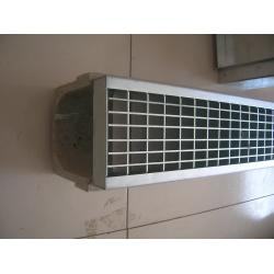 drainage trench/channel /gutter with diferrent grating covers on