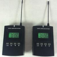 Black 008C Digital Wireless Tour Guide System With Excellent Sound Effect Good Quality