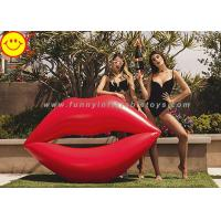 Lip Shape Giant Inflatable Water Floats Water Pool Float Red Color Cool Pool Floats