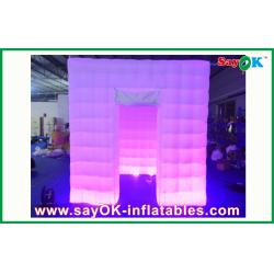 China Portable Wedding Party Inflatable Photo Booth 2.4m With 1 Door Logo Print Picture Booth on sale