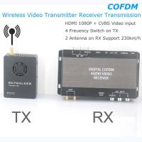COFDM Wireless Video Transmitter Receiver Transmission HDMI HD 1080P composite CVBS in H.264 COFDM-904T