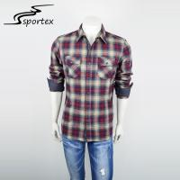 Modern Design Woven Casual Shirts Long Sleeve Style With Plaids Pattern