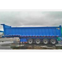 CIMC Tipping Trailer 50 Tons , 4 Axles 16 Wheels Dump Truck Trailer