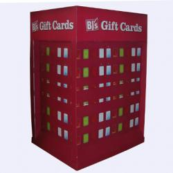 China Red Fashion Assemble Cardboard Pallet Display with hooks for gifts cards hanging on sale