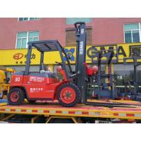 Manual 3 Ton Diesel Forklift , Diesel Fork Truck With Long Service Life