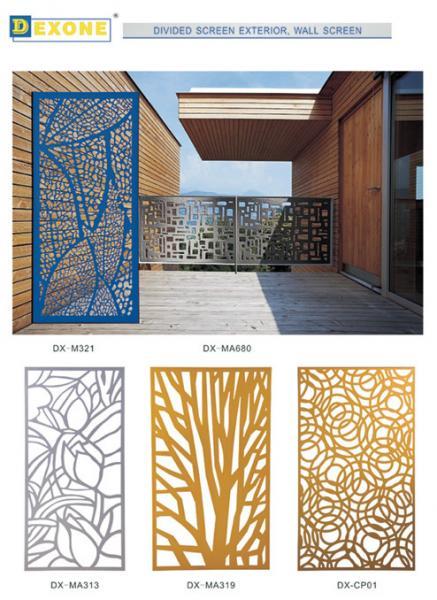 Exterior Architectural Screen Walls : Metal aluminum laser cut screens decorative exterior for