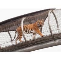 Metal Network Stainless Steel Tiger Wire Mesh / Big Cat Crossing Mesh
