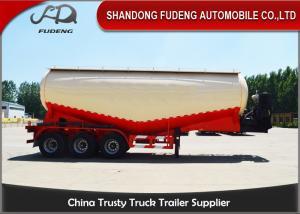 60 Tons bulk cement tank semi trailer, FUWA Axle cement bulker trailer