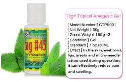 Etiqueta original creme numbing do gel 45 analg sico for Topical analgesic for tattoos