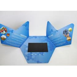China Rechargeable Video In Print Brochure , custom lcd video brochure card for promotion on sale