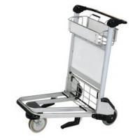 Durable Airport Baggage Trolley , Airport Push Cart Three - Wheel Nature Rubber