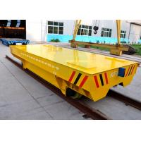 Large Platform Self Propelled Heavy Load Rail Transport Trailer With Steel Plate