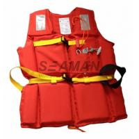 210D Polyester Oxford EPE Foam Workers Adult Life Vest With Whistle / Rescue Buddy Line