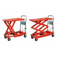 Orange Stationary Manual Hydraulic Lift 5000 * 2500 mm For Metal Industry