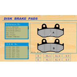China No dust residue custom motorcycle brake discs , brake pad WH125 / WY125 on sale