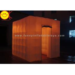 China Colorful LED Cube Inflatable Advertising Portable Photo Booth for Outdoor on sale
