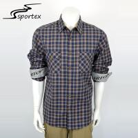 Cotton Grid Combination Woven Casual Shirts Male Adults Age Group With Free Samples