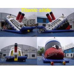 China Inflatable Titanic Slide, Inflatable Dry,Water Slide on sale