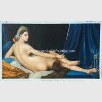 Canvas People Oil Painting , Nude Woman Oil Painting Reproduction On Linen